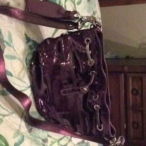 Coach metallic sequin purple purse